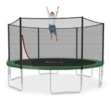 Ampel 24 Trampolin Ø 430 cm grün | Gartentrampolin Komplettset mit verstärktem Netz | belastbar bis 160 kg -