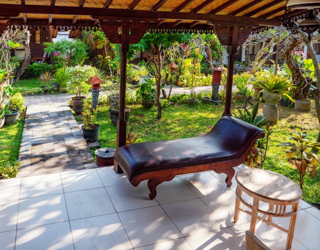 perfekten Garten für einen erholsamen Urlaub zu Hause